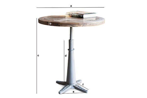 Product Dimensions Merritt round table