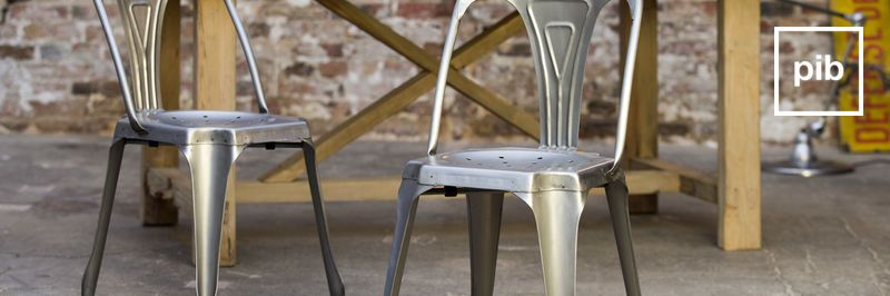 Metal industrial chairs back soon in collection