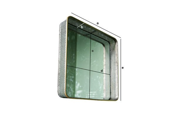 Product Dimensions Metal mirror Olonne