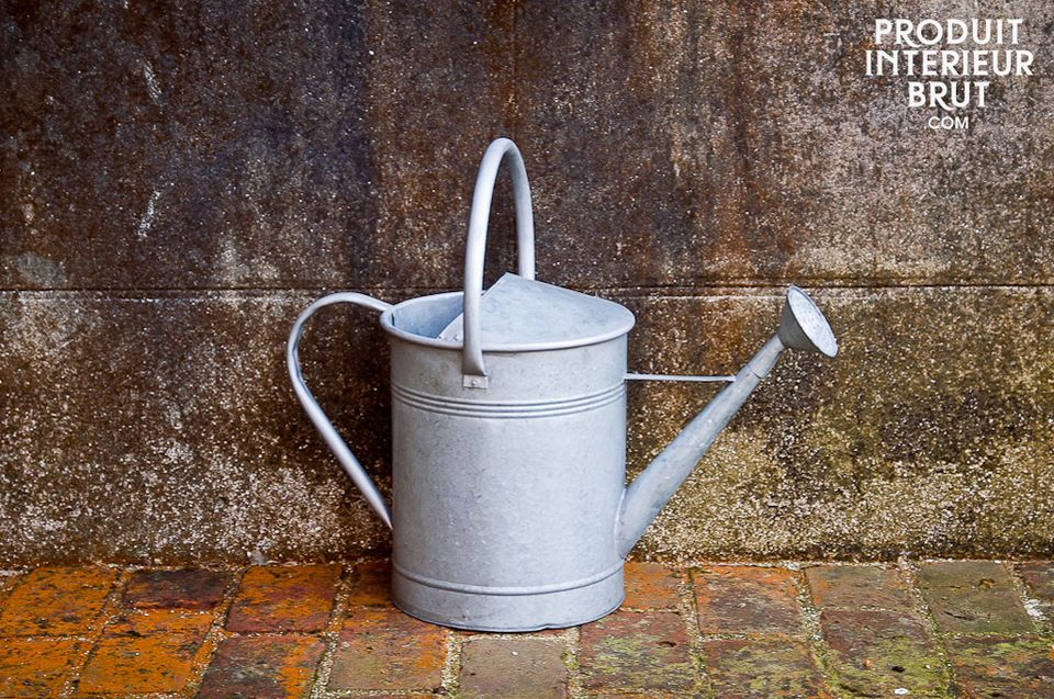 This metal watering can