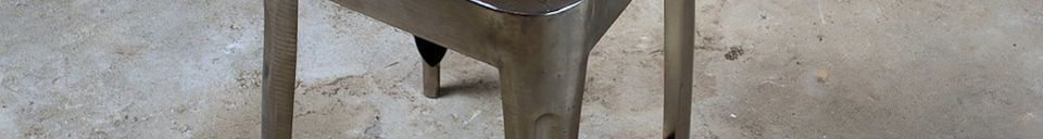 Material Details Metallic stool with teak seat