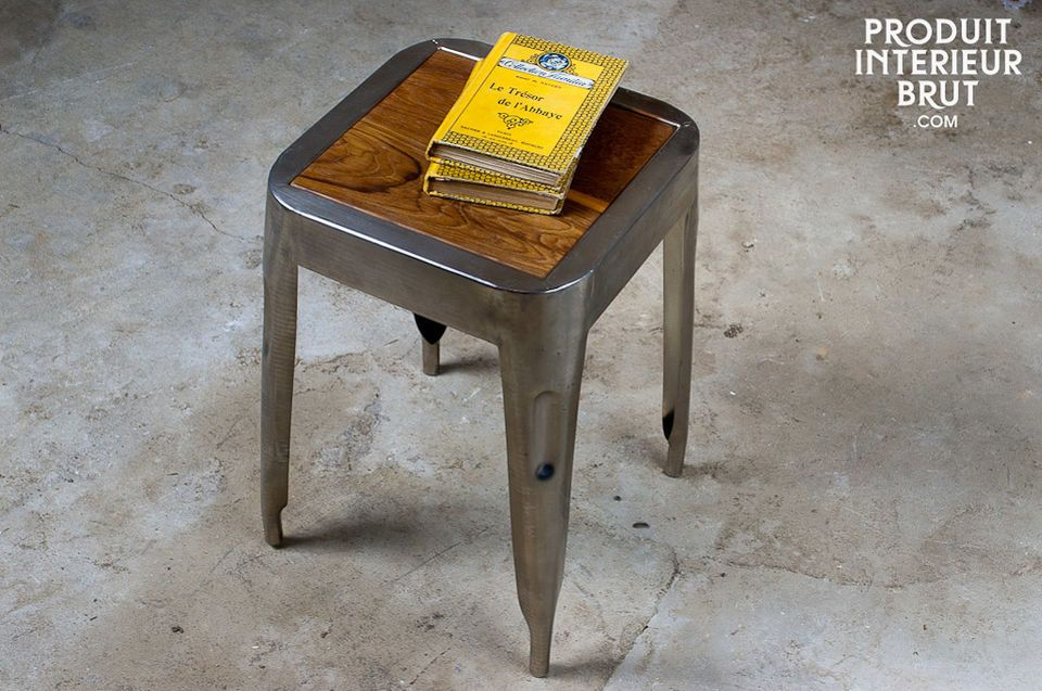 A stool that can also be used as a table