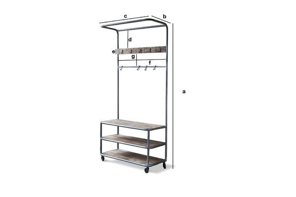Product Dimensions Midtown locker with wheels