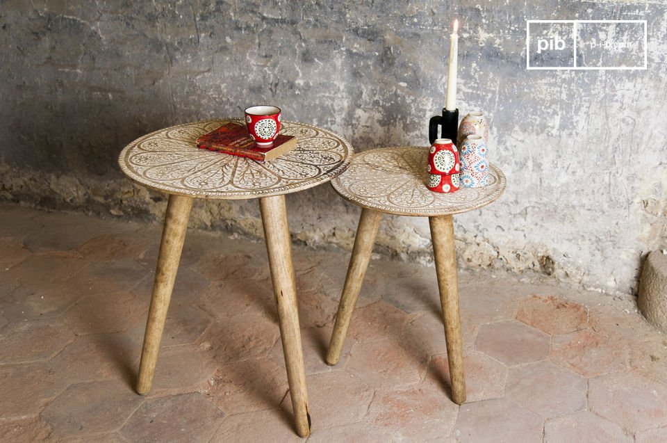 The trundle Minelle table is a magnificent duo filled with bohemian charm that will add a romantic