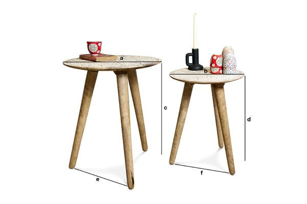 Product Dimensions Minelle trundle Table