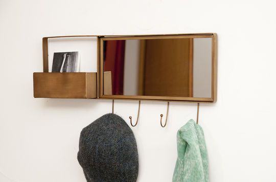 Mirror and wall coat rack Mimizan