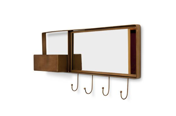 Mirror and wall coat rack Mimizan Clipped