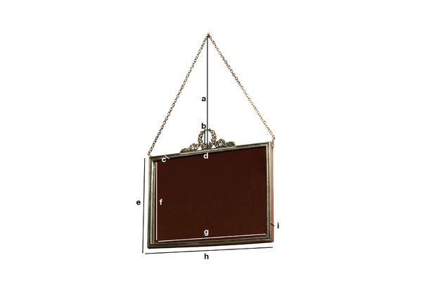 Product Dimensions Mirror Flèche de Bronze