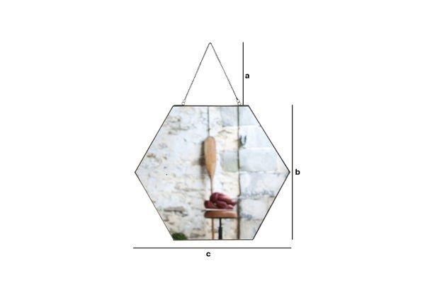 Product Dimensions Mirror Solliès-Pont hexagonal