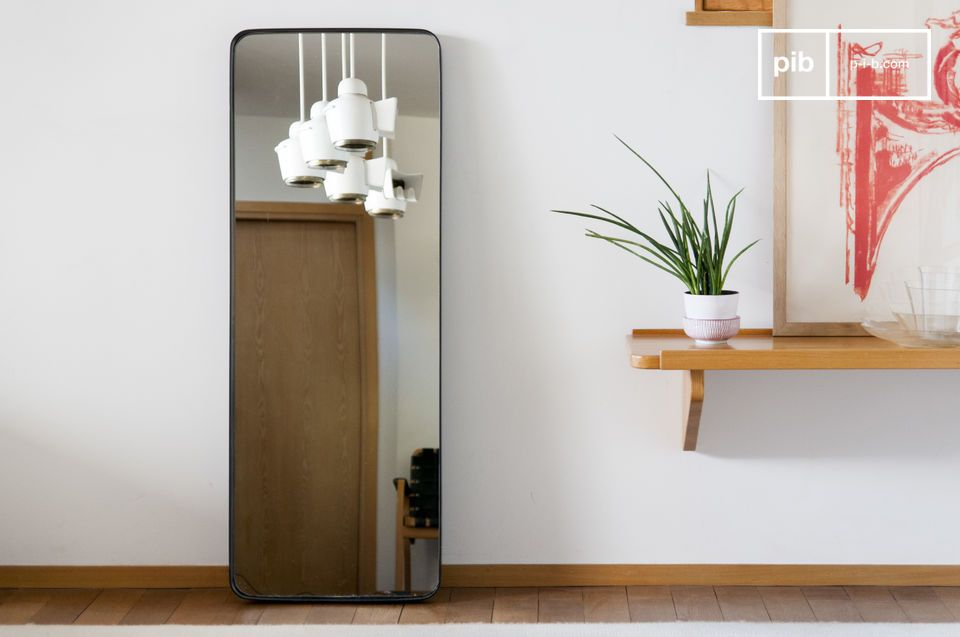 Mirror with black frame Ascain