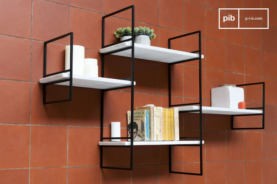 Modular Bridget marble shelf