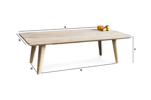 Product Dimensions Möka coffee table