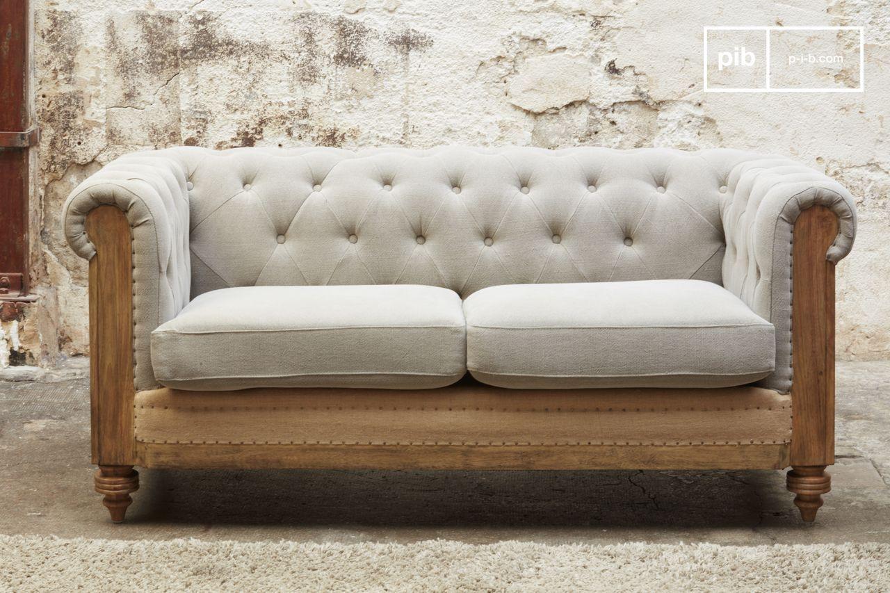 2aa4e5811616 Montaigu 2-seater grey Chesterfield sofa   pib