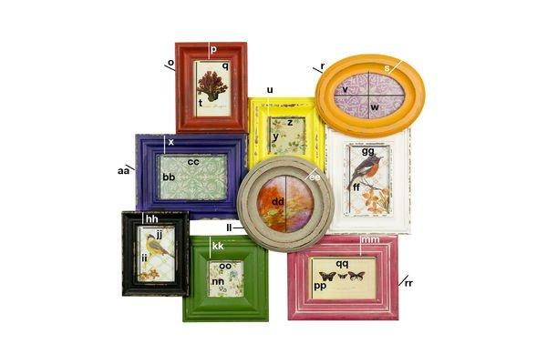 Product Dimensions Multi-colour nine-photo jumble