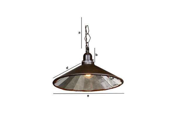 Product Dimensions Multi-facetted pendant light