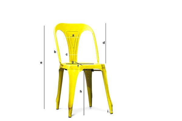 Product Dimensions Multipl's chair antique yellow