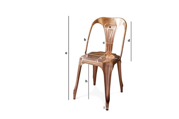 Product Dimensions Multipl's Chair Vintage copper-coloured
