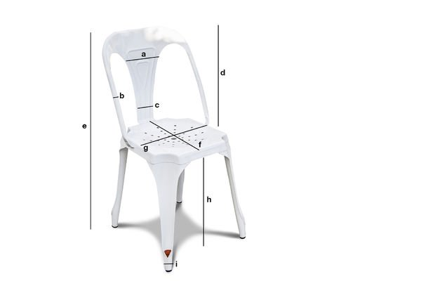 Product Dimensions Multipl's chair white