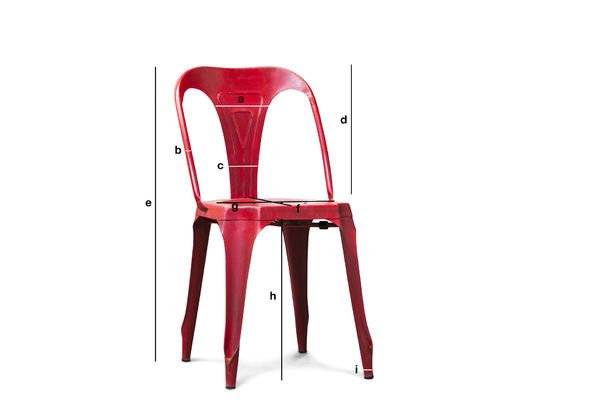 Product Dimensions Multipl's  red chair