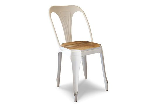 Multipl's white chair - wood Clipped