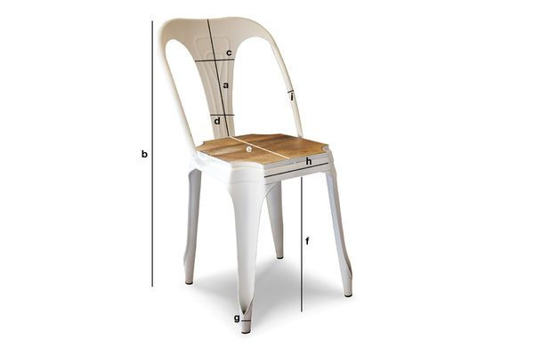Product Dimensions Multipl's white chair - wood