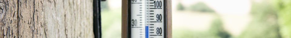 Material Details Mural thermometer created in brass