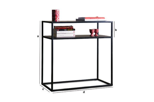 Product Dimensions Myriam Metal console
