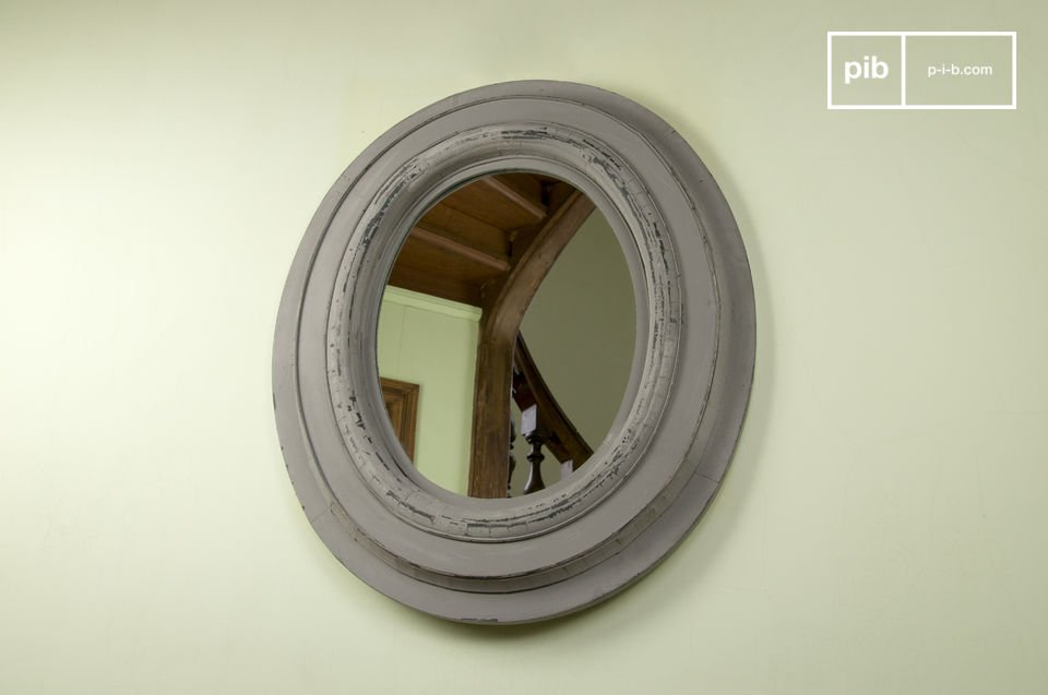 The Napoleon wood mirror is a wall accessory that as well as being a convenient item also provides a