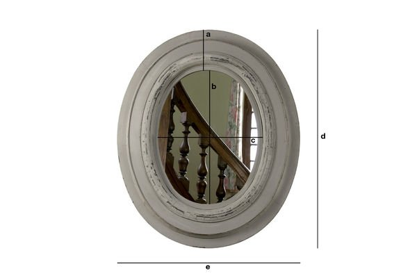Product Dimensions Napoleon wood mirror