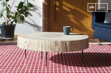 Natural Luka tree trunk coffee table