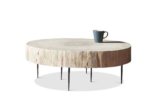 Natural Luka tree trunk coffee table Clipped