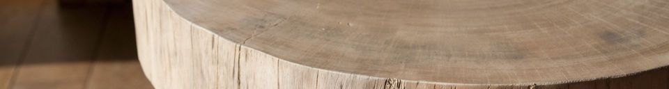 Material Details Natural Luka tree trunk side table