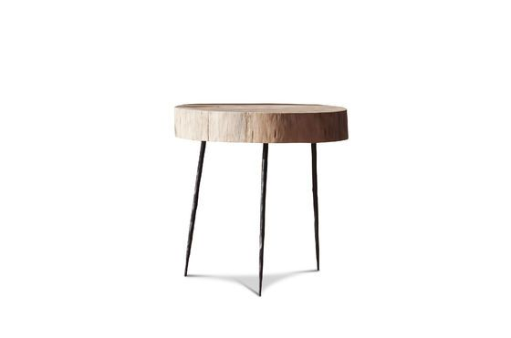 Natural Luka tree trunk side table Clipped