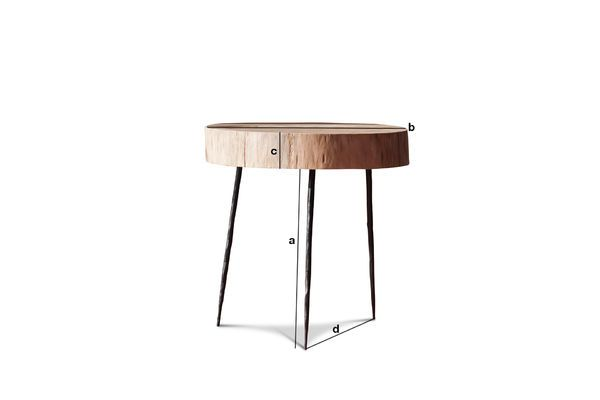 Product Dimensions Natural Luka tree trunk side table