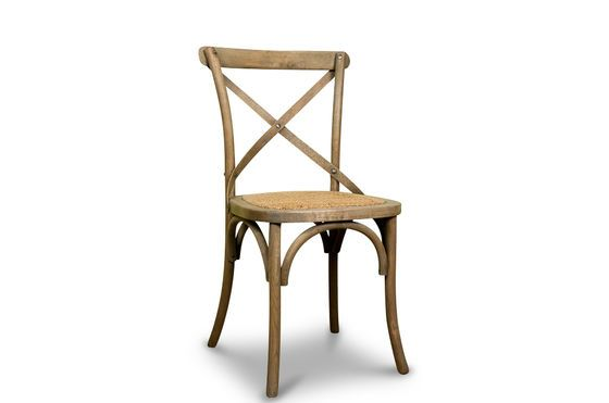 Natural oak Pampelune chair Clipped