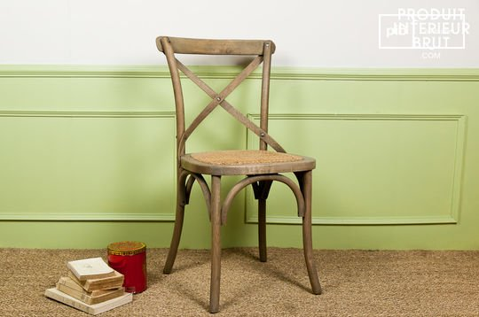 Natural oak Pampelune chair