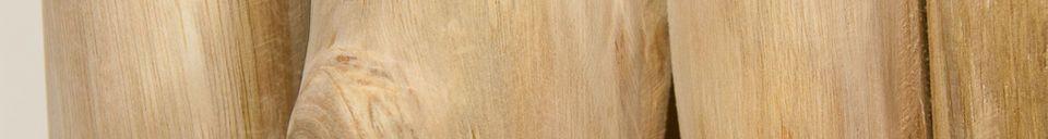 Material Details Natural teak headboard