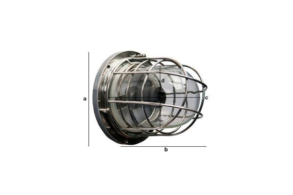 Product Dimensions Nautical wall lamp Coursive