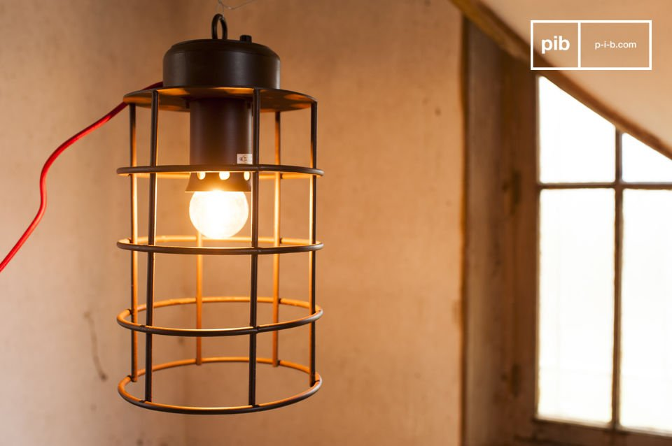 An industrial lamp with naval style