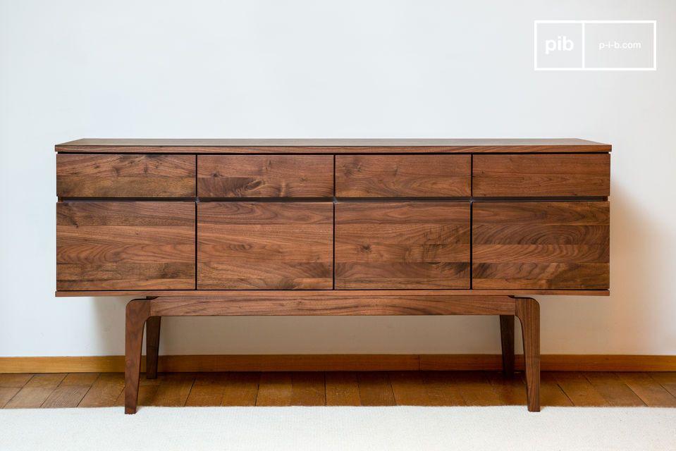 A magnificent modern storage unit in matt varnished walnut