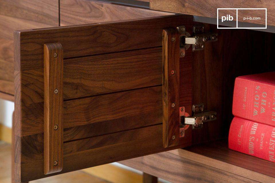 Neliö walnut sideboard - 3