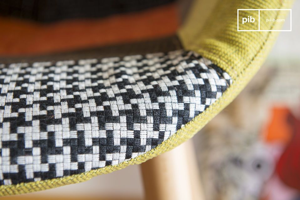 The Patchwork chair displays chic and originality