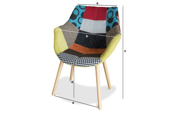 Product Dimensions Neo Patchwork Armchair