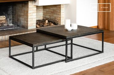 Nesting coffee tables Trieux et Jaudy