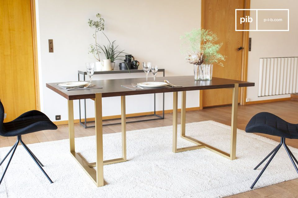 Neutra walnut dining table