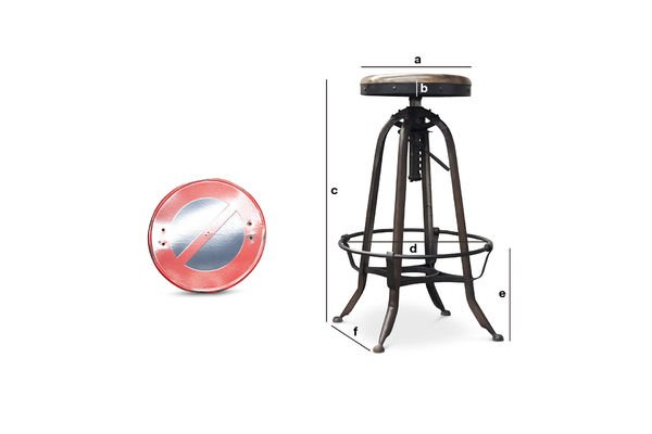 Product Dimensions New Western bar stool