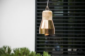 Newark copper hanging light