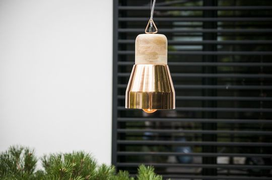 Newark copper hanging light