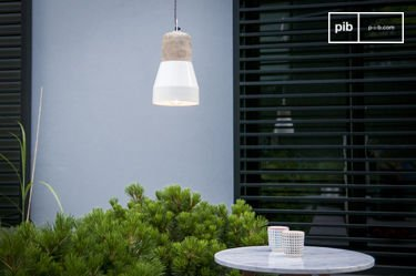 Newark cream-coloured Hanging lamp