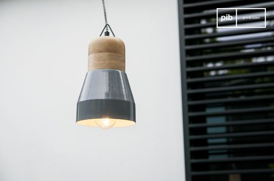 Newark grey hanging lamp